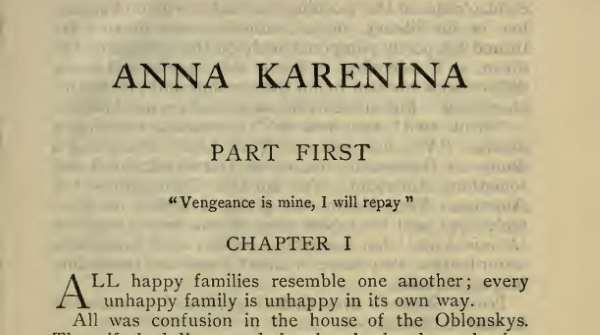 Primera página de Anna Karenina